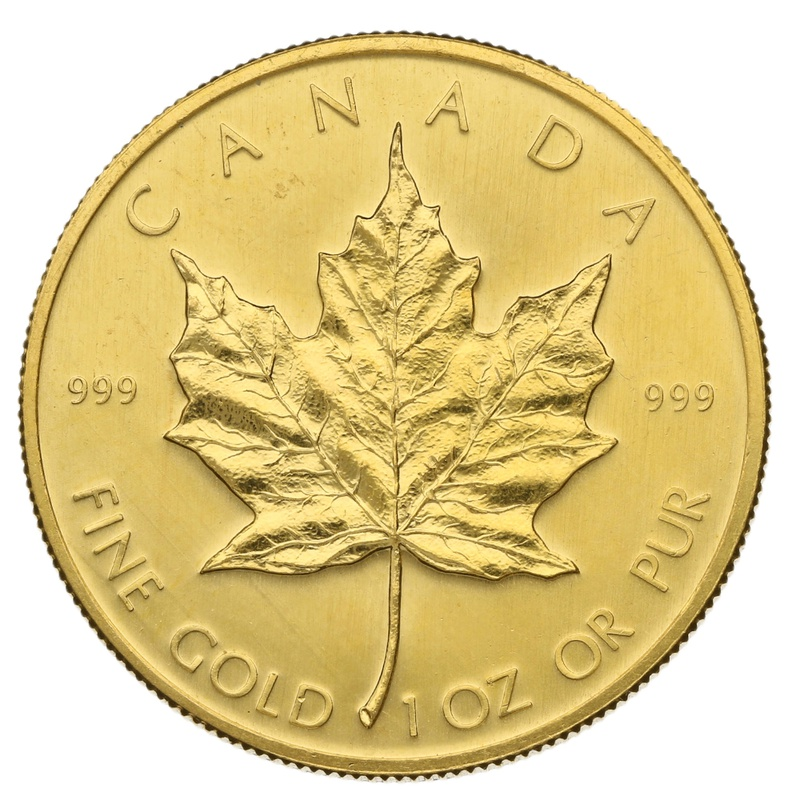1979 1oz Canadian Maple Gold Coin