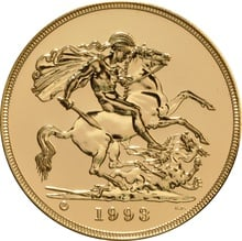 1993 - Gold £5 Brilliant Uncirculated Coin Boxed