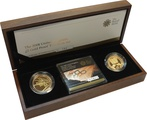 2008 £2 Two Pound Gold Proof Two-Coin Set- Centenary and Handover Boxed