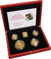 1990 Gold Proof Sovereign Four Coin Set Boxed