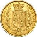 1848 Gold Sovereign - Victoria Young Head Shield Back - London