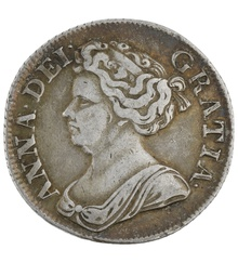 1711 Anne Shilling - Very Fine