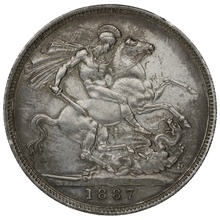 1887 Queen Victoria Silver Crown