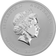 2019 2oz Australian Lunar Year of the Pig Silver Coin