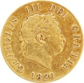 1820 George III Gold Half Sovereign