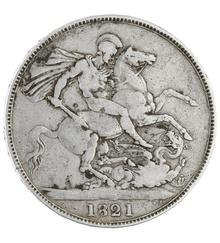 1821 George IV Crown - Fine