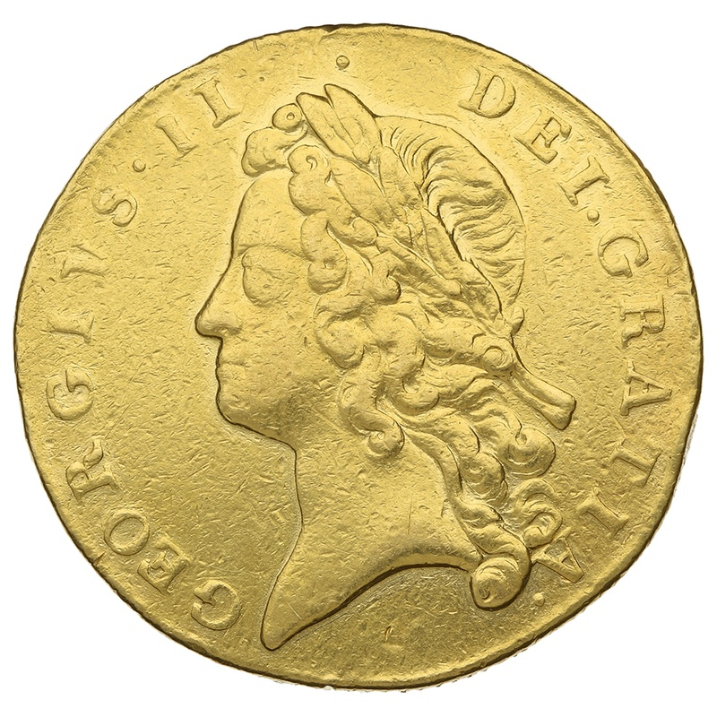 1739 George II Two Guinea Gold Coin
