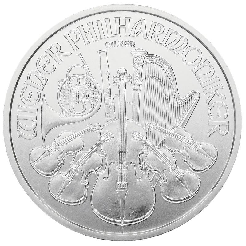 2014 1oz Austrian Philharmonic Silver Coin