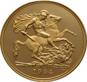 1994 - Gold £5 Proof Coin (Quintuple Sovereign)