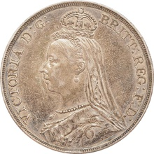 1891 Victoria Jubilee Head Silver Crown - Good Fine