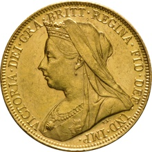 1900 Gold Sovereign - Victoria Old Head - M