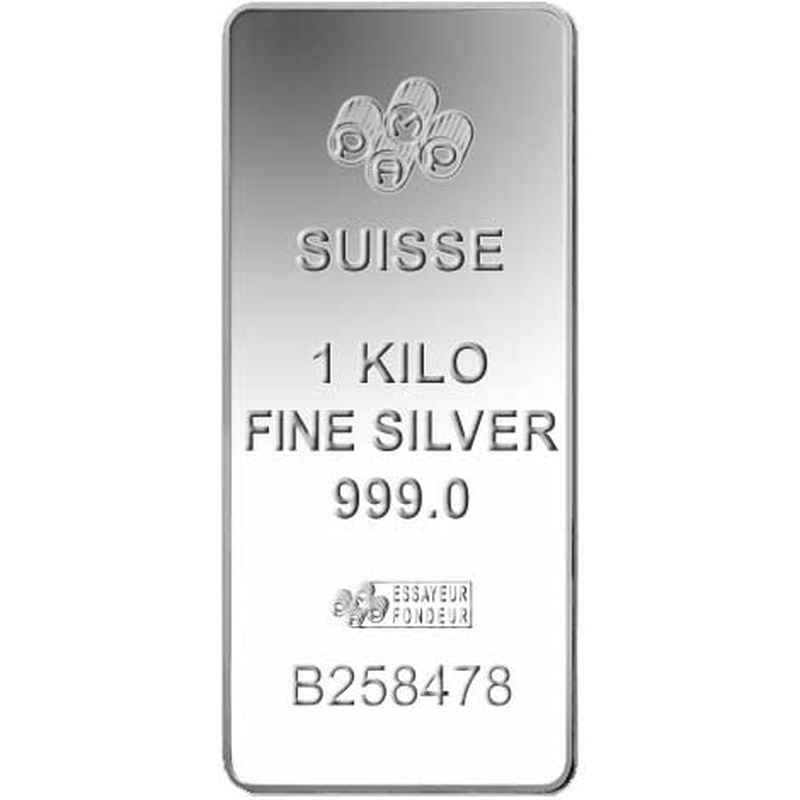 PAMP 1 Kilo Silver Bar Minted