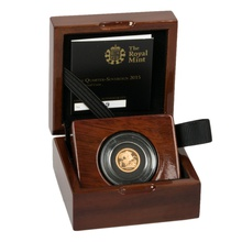 2015 Quarter Sovereign Gold Proof Coin Boxed