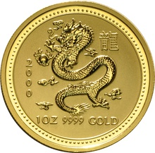 2000 1oz Gold Year of the Dragon