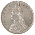 1889 Victoria Double Florin - Extremely Fine