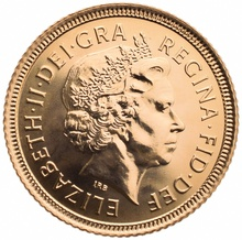 Gold Half Sovereign Elizabeth II Fourth Head