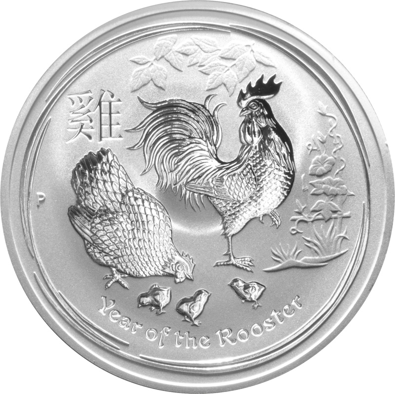 2017 1oz Australian Lunar Year of the Rooster Silver Coin