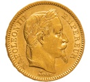 1862 20 French Francs - Napoleon III Laureate Head - BB