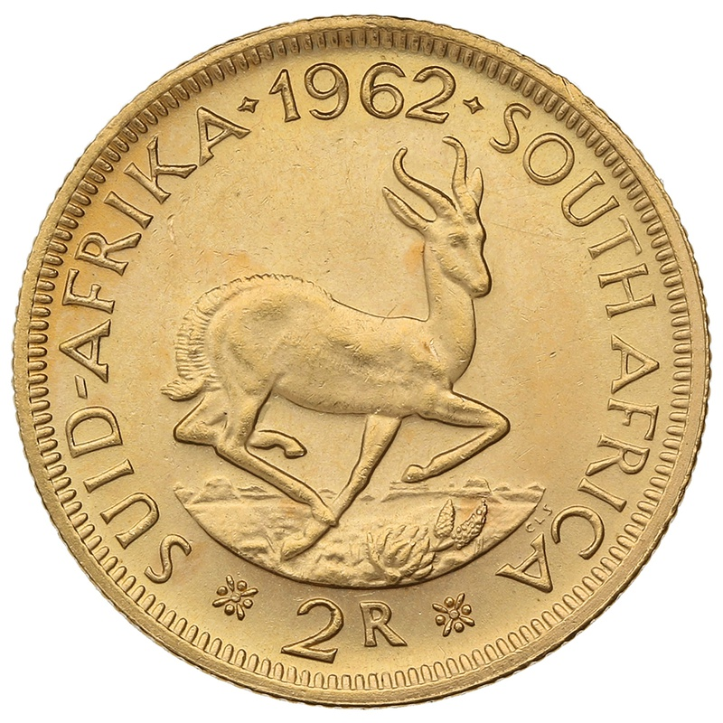 1962 2R 2 Rand coin South Africa