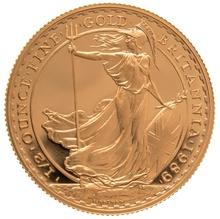 1989 Half Ounce Proof Britannia Gold Coin