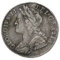 1741 George II Silver Milled Shilling