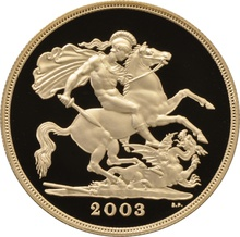 2003 - Gold £5 Proof Coin (Quintuple Sovereign)