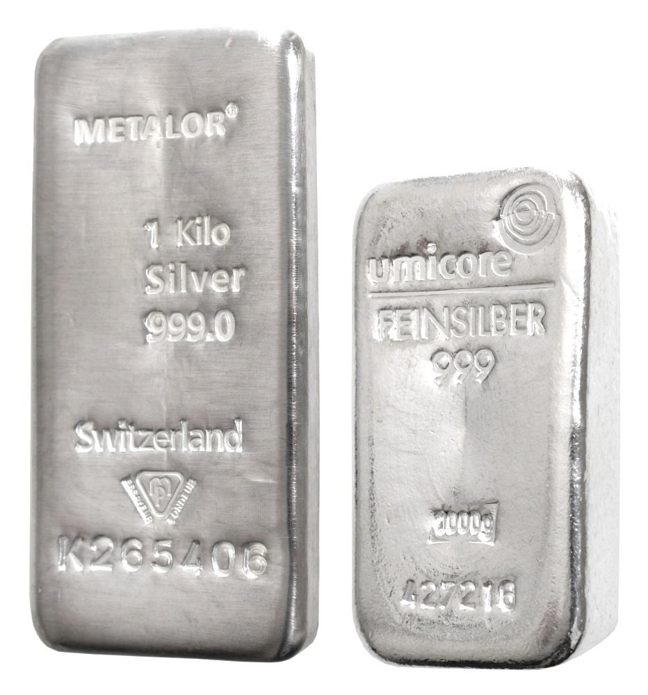 1kg Silver Bullion Bars Buy Silver Bullionbypost