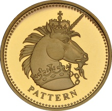 £1 One Pound Proof Gold Coin - Pattern Beast -2004 Unicorn