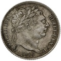1816 George the Third Silver Sixpence