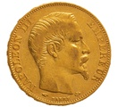 1858 20 French Francs - Napoleon III Bare Head - A