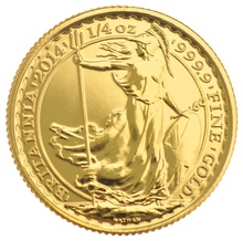 2014 Quarter Ounce Britannia Gold Coins