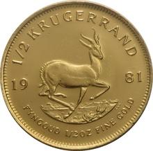 1981 Half Ounce Krugerrand Gold Coin