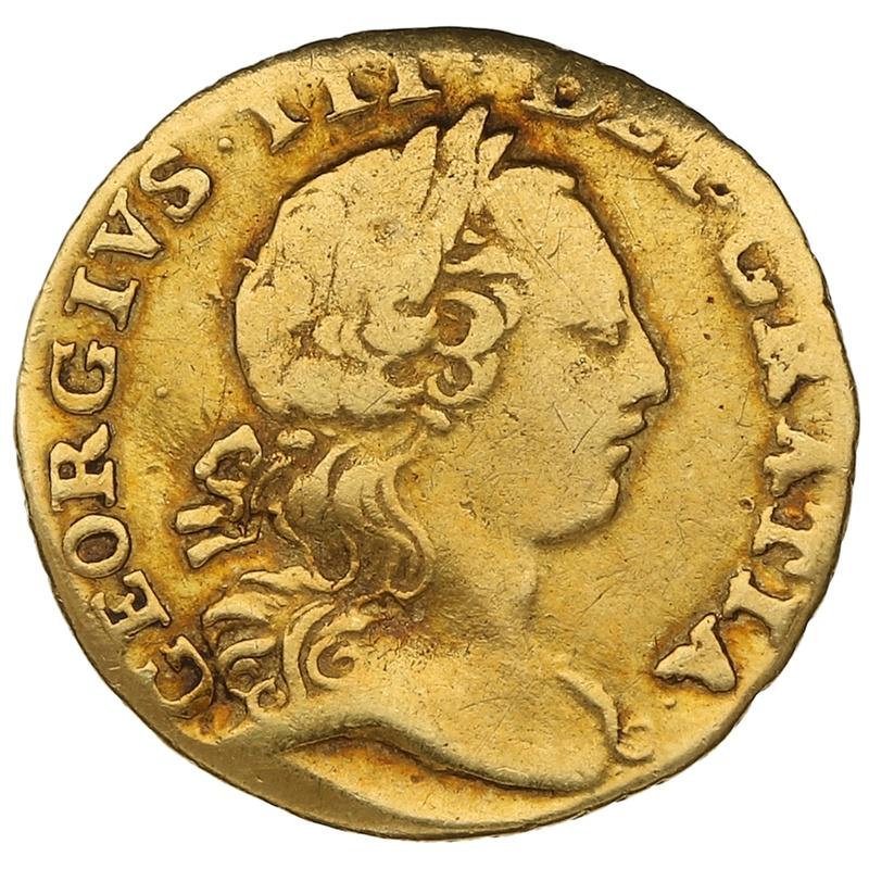 1762 George III Gold Quarter Guinea