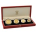 1992 Solomon Islands 50th Anniversary Battle of Coral Sea 4-Coin Gold Proof Set Boxed