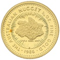 1986 Proof Tenth Ounce Gold Australian Nugget