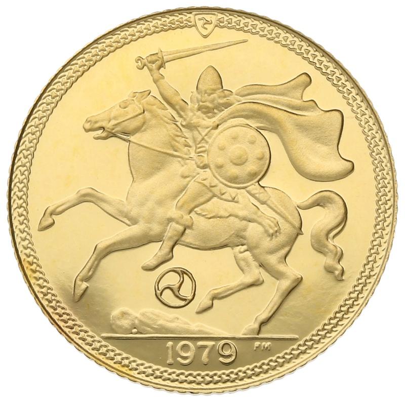 1979 Gold Half Sovereign - Elizabeth II Decimal Portrait - Isle of Man Proof