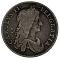 1663 Charles II Silver Shilling