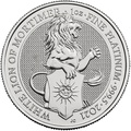 2021 1oz Platinum White Lion of Mortimer - Queen's Beast Coin