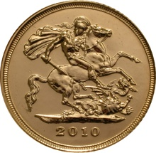 2010 Gold Half Sovereign Elizabeth II Fourth Head
