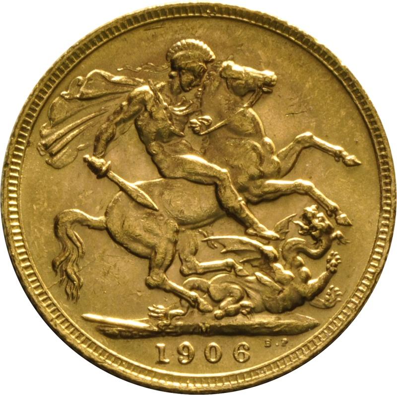 1906 Gold Sovereign - King Edward VII - M