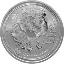 Half Ounce Australian Silver Year of the Rooster Coin 2017