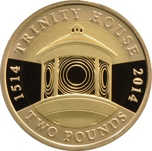 2014 £2 Two Pound Proof Gold Coin 500th Ann. Trinity House