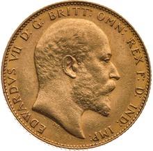 King Edward VII Gold Sovereign Gift Boxed