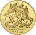 1994 5oz Gold Proof Isle of Man Angel