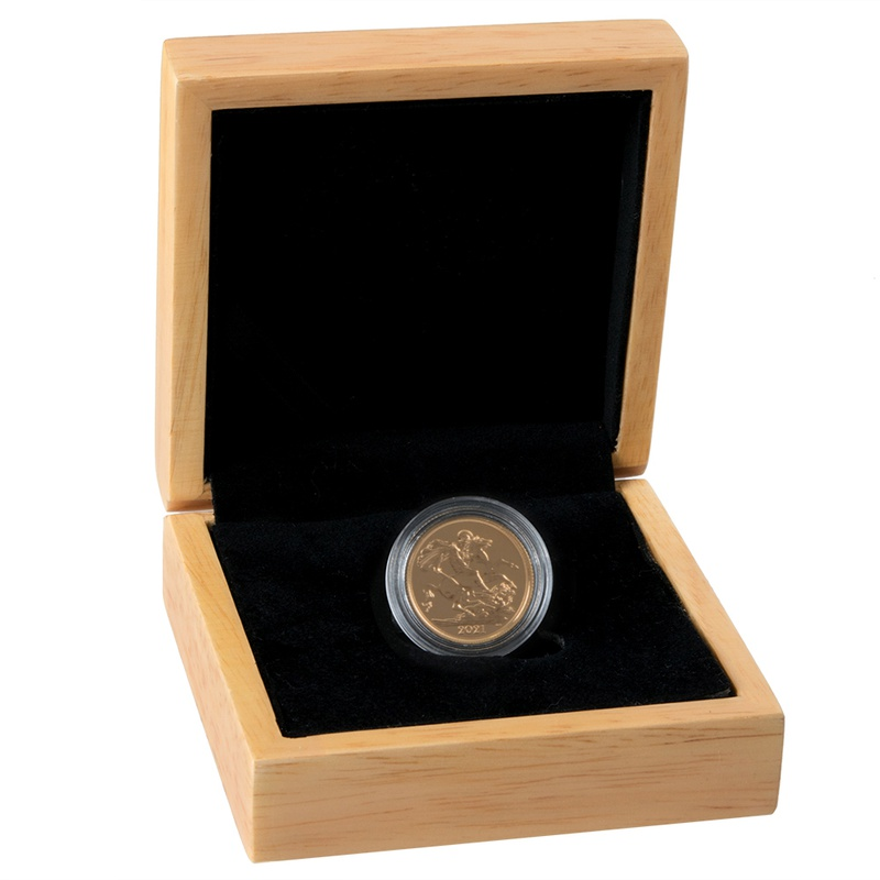 2021 Gold Sovereign Gift Boxed