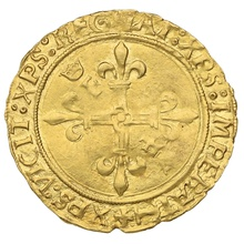 1515-1547 France Francis I  Gold Hammered Ecu D'Or