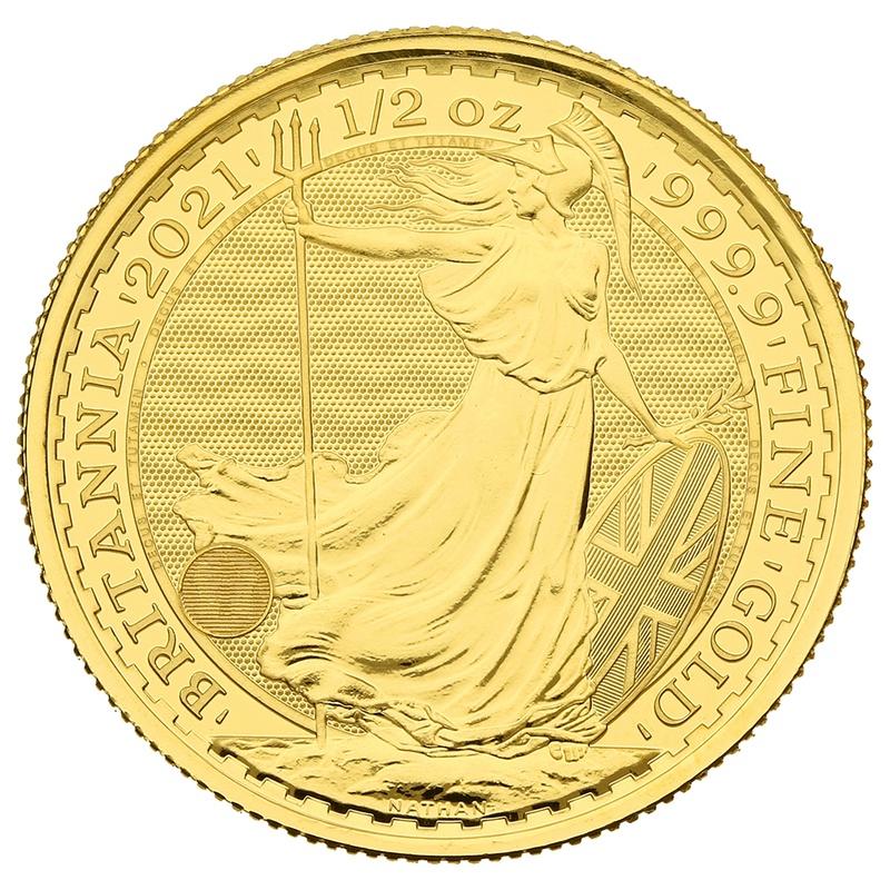 2021 Britannia Half Ounce Gold Coin