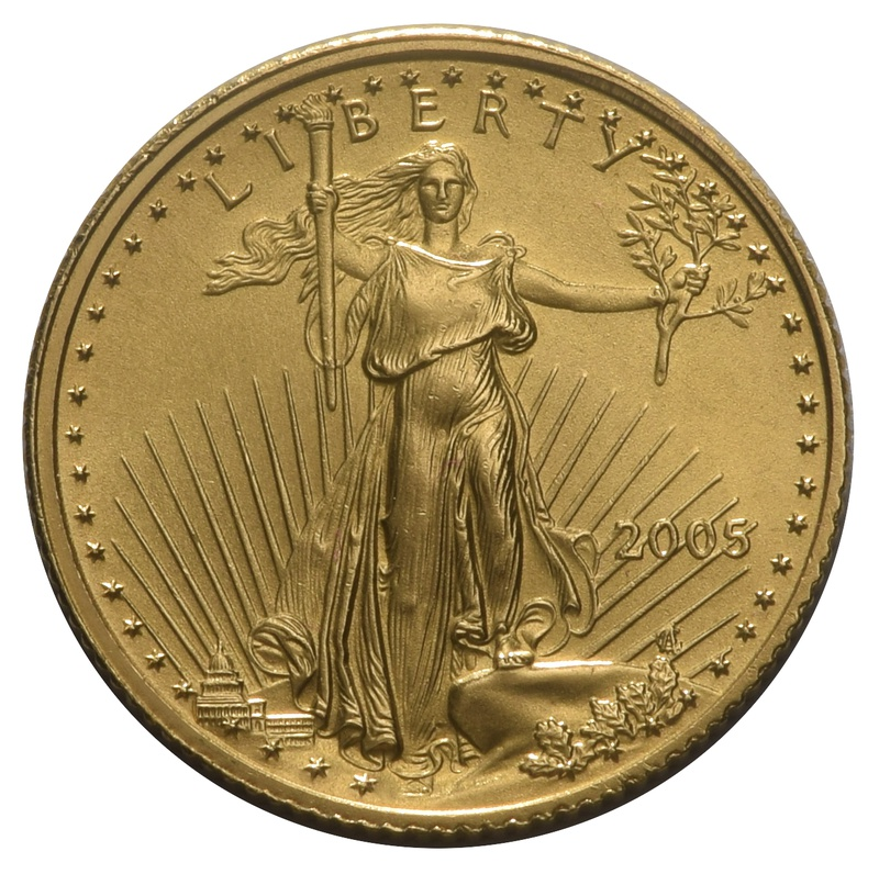 2005 Tenth Ounce Eagle Gold Coin