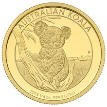 Australian Koala 2015 1/4oz Gold Proof coin Boxed