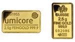 2.5g Gold Bars (Pre Owned)